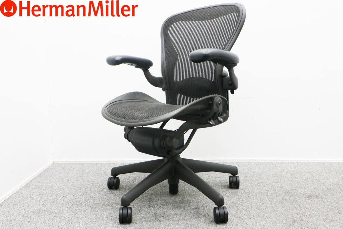 HarmanMiller ハーマンミラー アーロンチェア Bサイズ グラファイトフレーム ランバーサポート