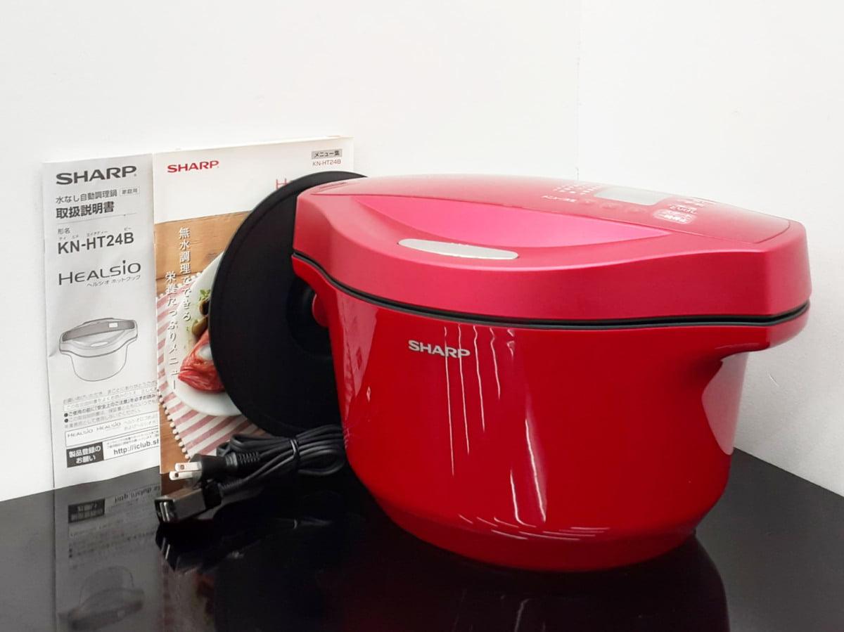 SHARP シャープ ヘルシオ ホットクック 水なし自動調理鍋 KN-HT24B-R 2.4L